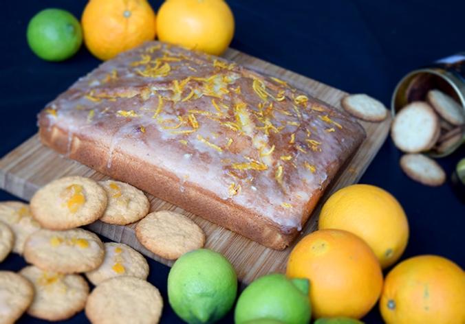 Orangenkuchen mit Orangen und Zitronen