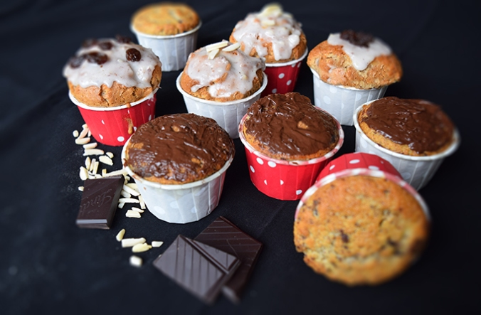 Muffins mit Dekoration