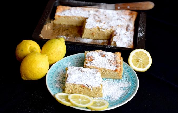 Dessertkuchen mit Zitronen