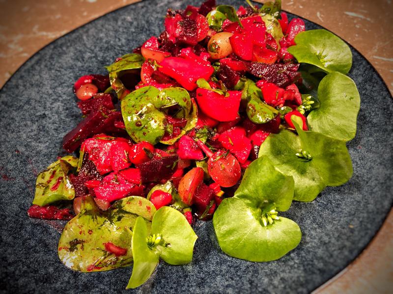 Rote Bete Salat mit Matjes